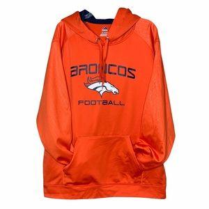 Majestic Denver Broncos Orange Hoodie Men's 2XL